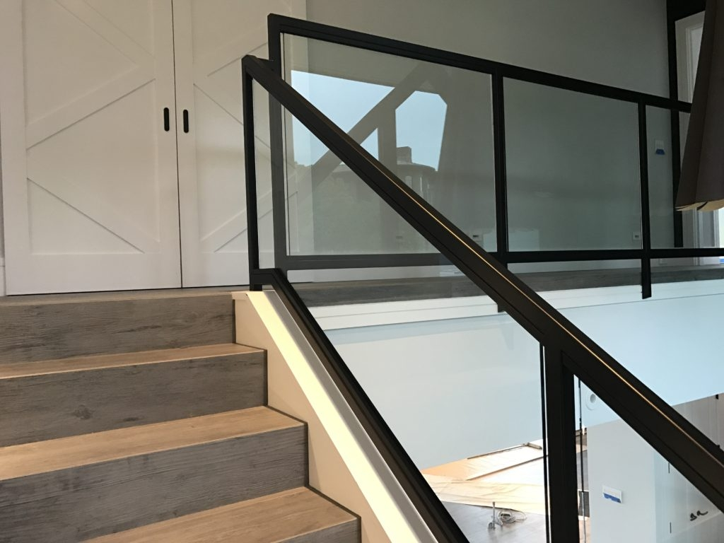 Interior Glass Stair Railing • Ot Glass | Glass Staircase Panels Near Me | Glass Railing Systems | Wood | Spiral Staircase | Stair Parts | Stainless Steel