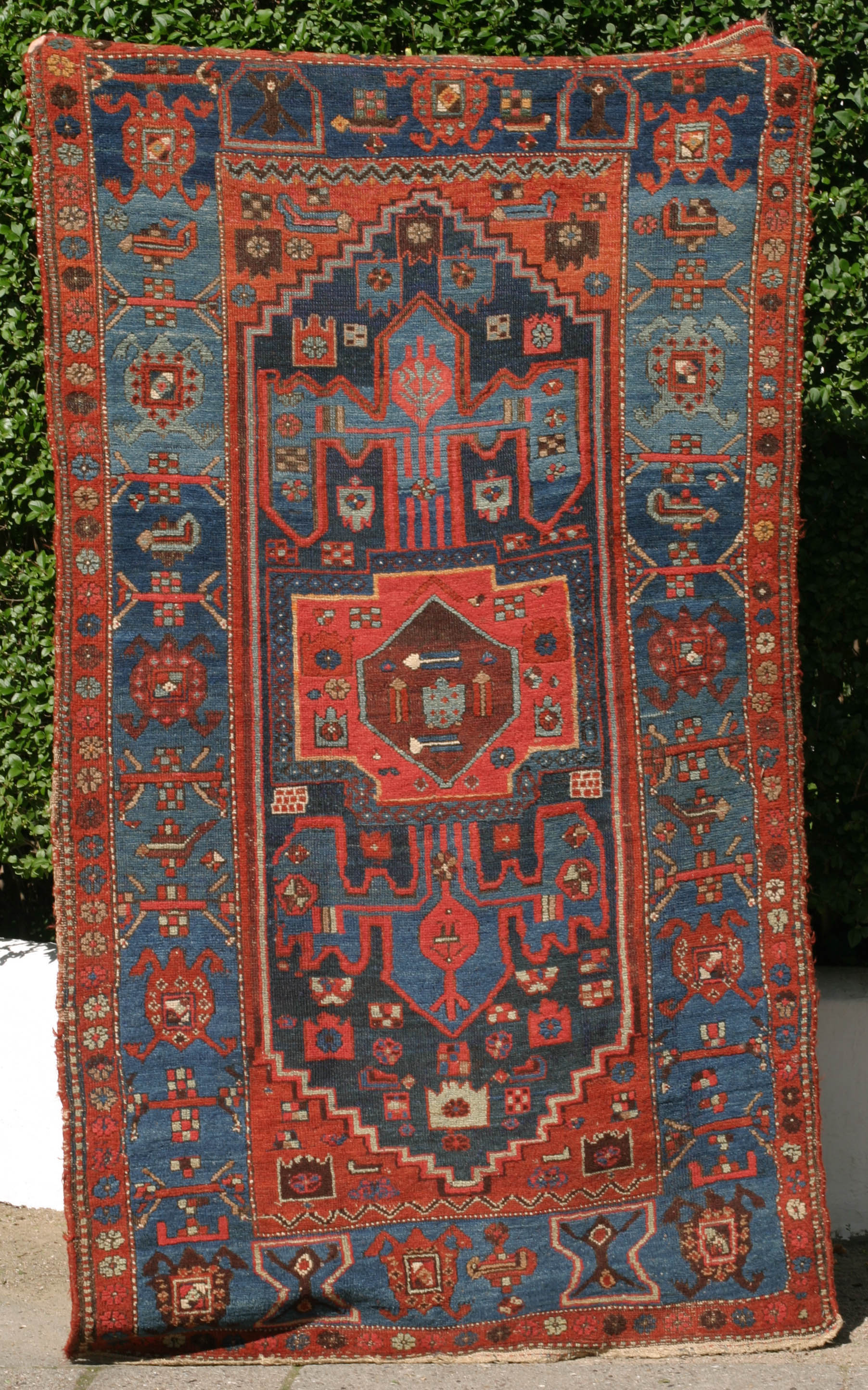 Kolyai Qulya I Kurdish Rug With Anchor Design And Turtle
