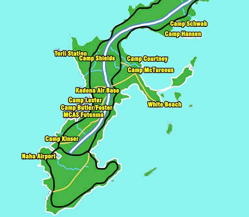 ... Okinawa Here S A Map Of The Southern Part Of The Island Showing Places  I Visited Thperiodamericanhistory Battle Of Okinawa Okinawa Battle Map Jpg  ...