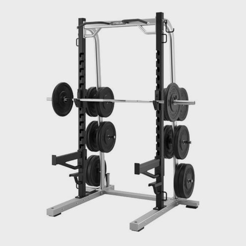 Precor Discovery Series Olympic Squat Rack Out Fit