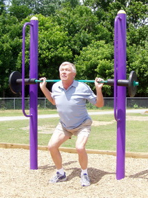 Dual Exercise Bars At Outdoor Fitness Equipment