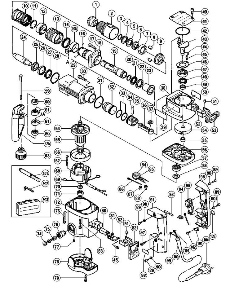 76 Hilti Hammer Drill Parts Diagram