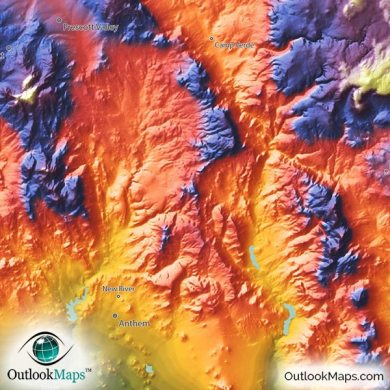 topographical map of arizona » ..:: Edi Maps ::.. | Full HD Maps