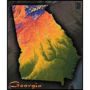 Georgia Physical Features Map Full HD Pictures K Ultra Full - Georgia topographic map