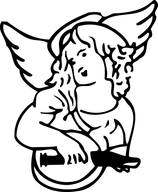 angel clipart for headstones - 526×640