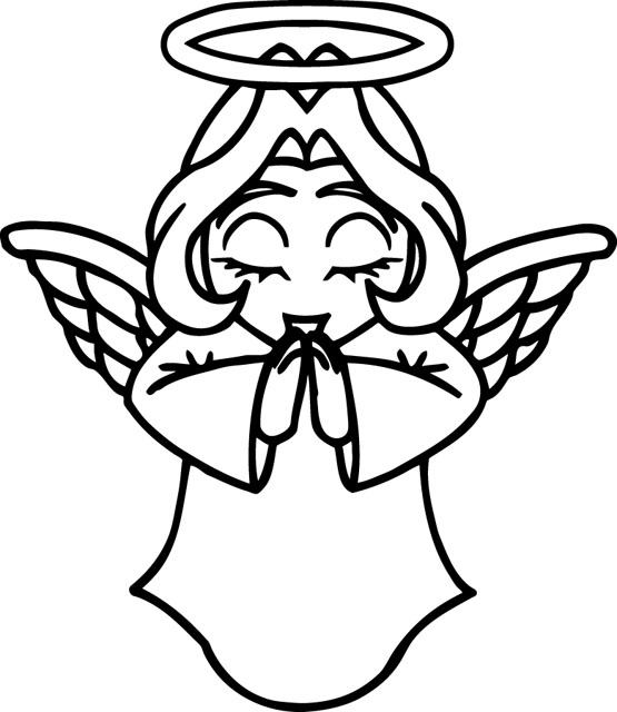 angel clipart for headstones - 555×640