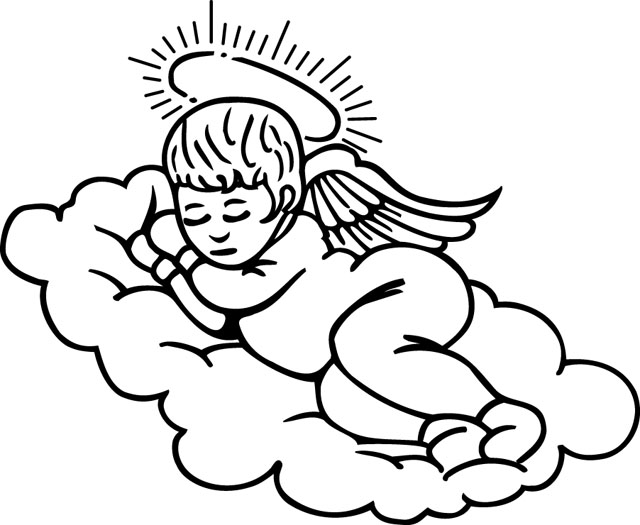 angel clipart for headstones - 640×525
