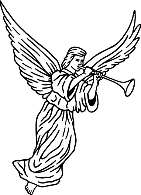 angel clipart for headstones - 464×640