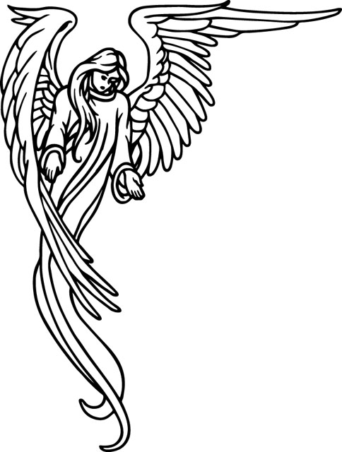 angel clipart for headstones - 484×640