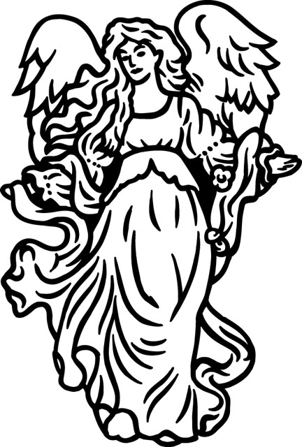 angel clipart for headstones - 432×640