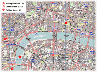 London PDF Maps with Attractions   Tube Stations London City Center Street Map PDF