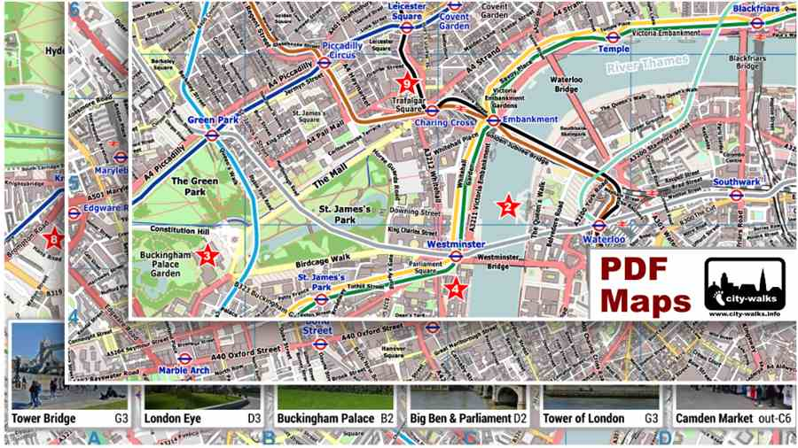 London City Center Street Map   Free PDF Download London PDF Maps