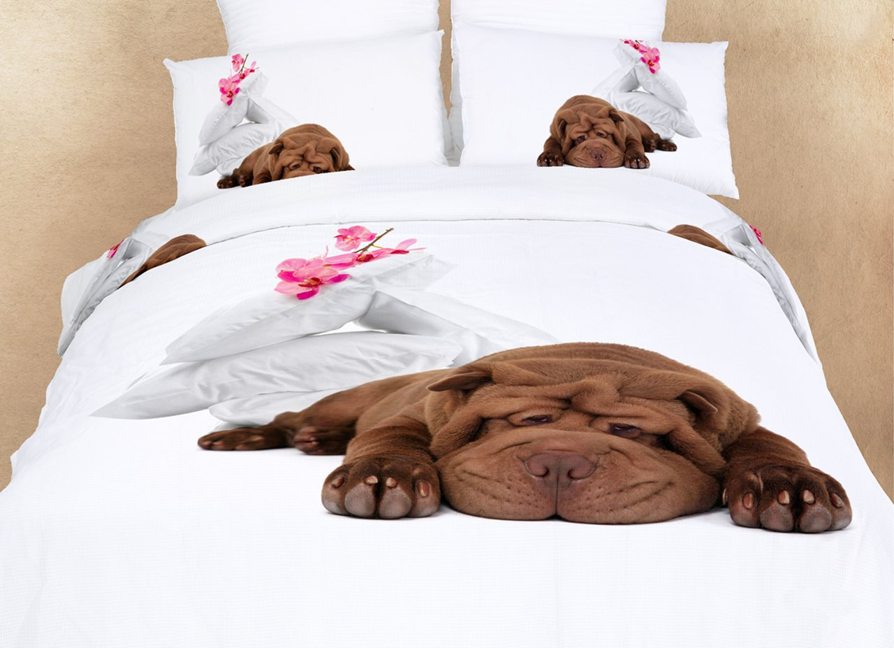 Sleepy Queen Fun Design Bedding Dog Animal Print Duvet