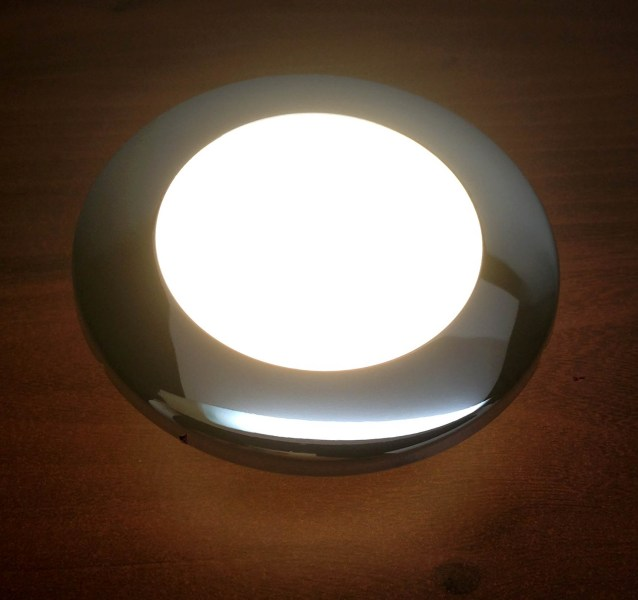 Marine Boat Bright LED Ceiling Light Glare Free Lens Stainless Steel     Marine Boat Bright LED Ceiling Light Glare Free Lens Stainless S