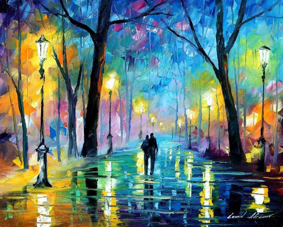 my new years poems   painting you with words Painting by Leonid Afremov  used with his permission