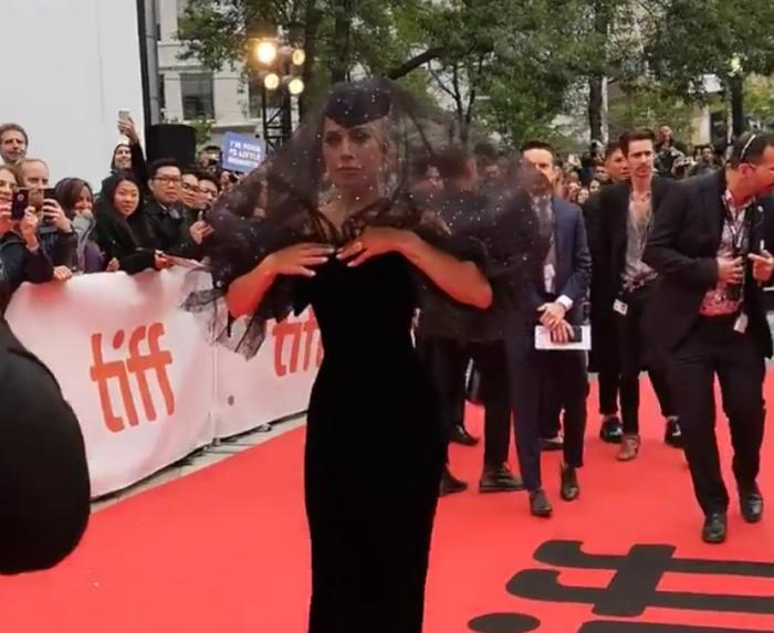 Lady Gaga And Bradley Cooper Made Their Tiff Red Carpet Debut For  A     Lady Gaga Brought Couture Drama To The Tiff Red Carpet