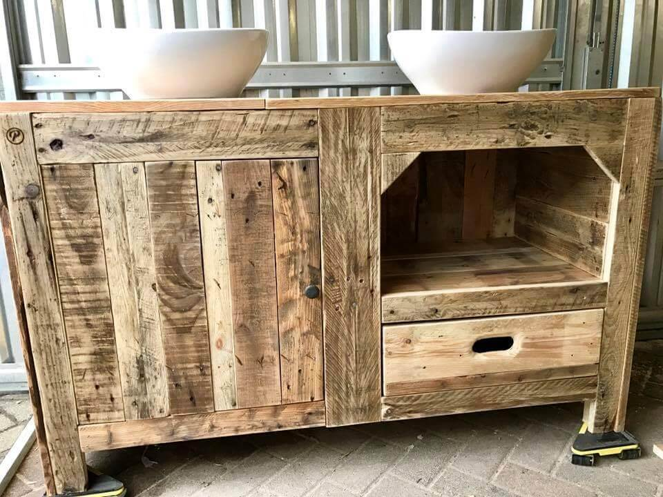 Pallet Bathroom Cabinet Designs Pallets Pro