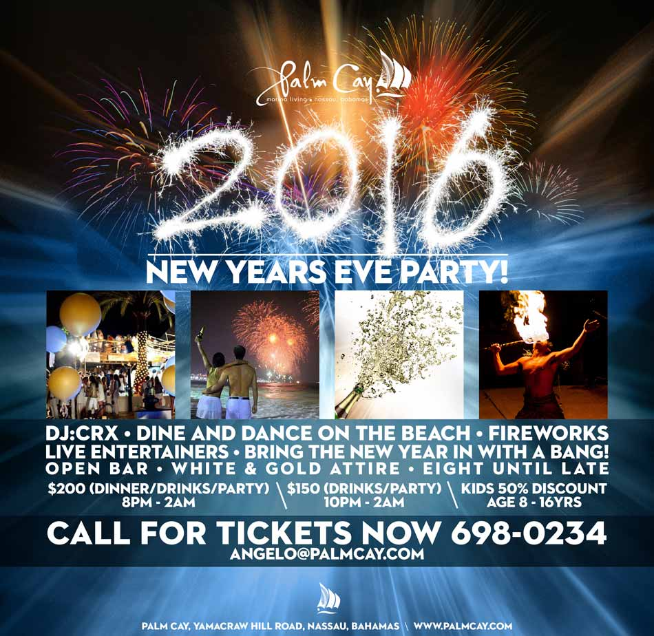The 2016 New Years Eve Party   Secure Luxury Bahamas Marina Homes     New Years Eve 2016 Palm Cay