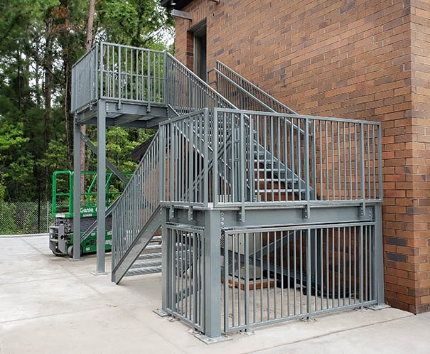 Metal Stairs Ibc And Osha Metal Stair Systems Panel Built   Steel Stairs For Sale   Aluminum   Pylex   Cantilever   Residential   Used
