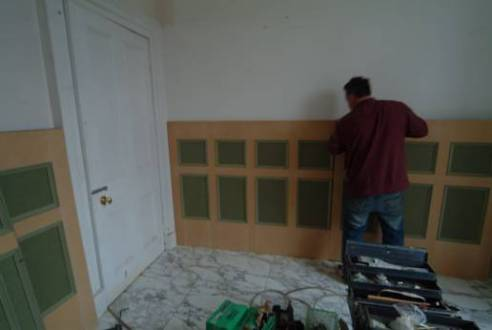 How to Install Your Own Wall Panelling   Do it Yourself Wall Panelling photos showing how to install your own bathroom wall panelling from martin  chadwick at wall panelling