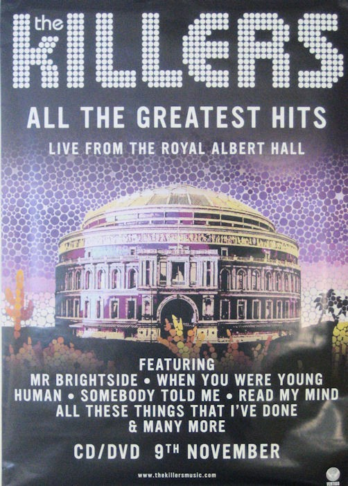 The Killers Posters Killers Live Greatest Hits Promo