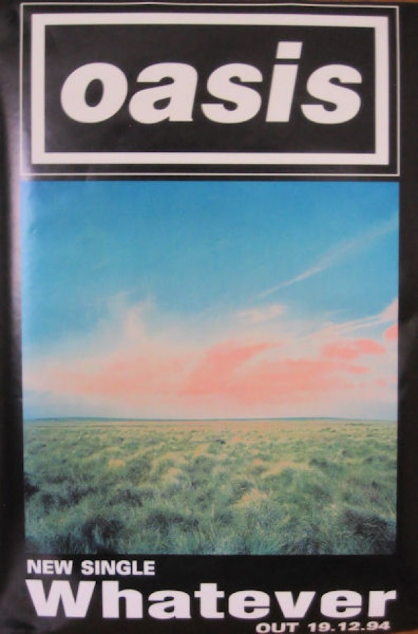 Oasis Posters Original Oasis Whatever Promo Poster