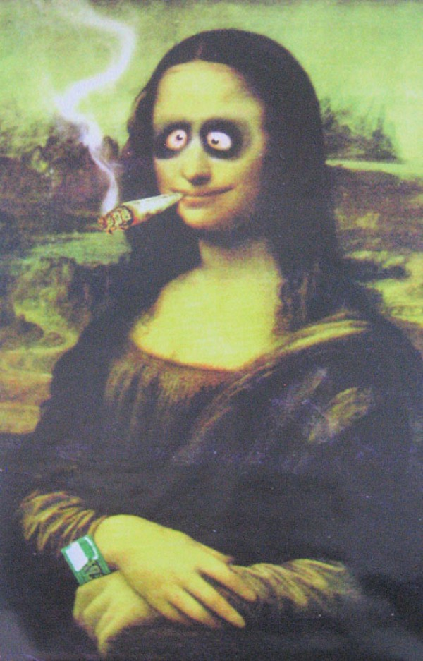Cannabis Posters Buy This Mona Lissa Spliff Poster