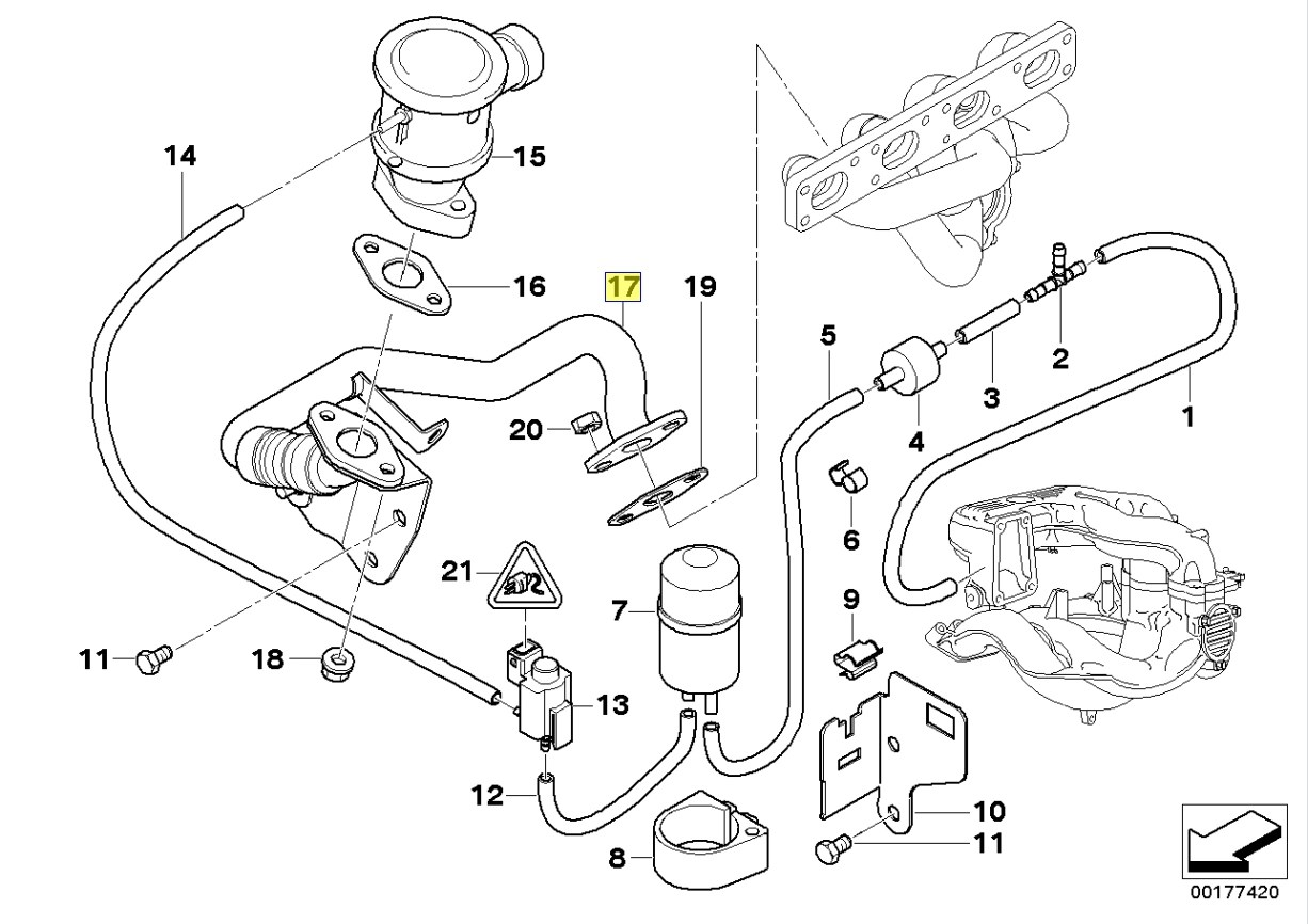 2002 bmw 330i vacuum hose routing wiring diagram and fuse box
