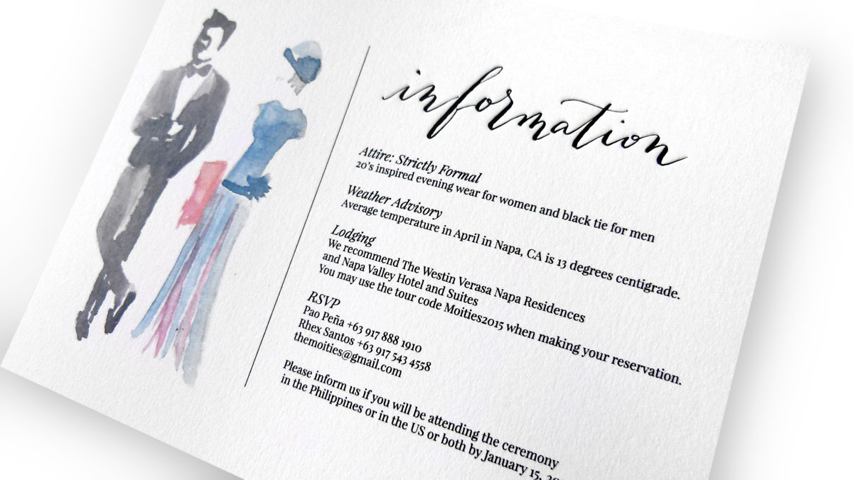 Wedding Attire Card