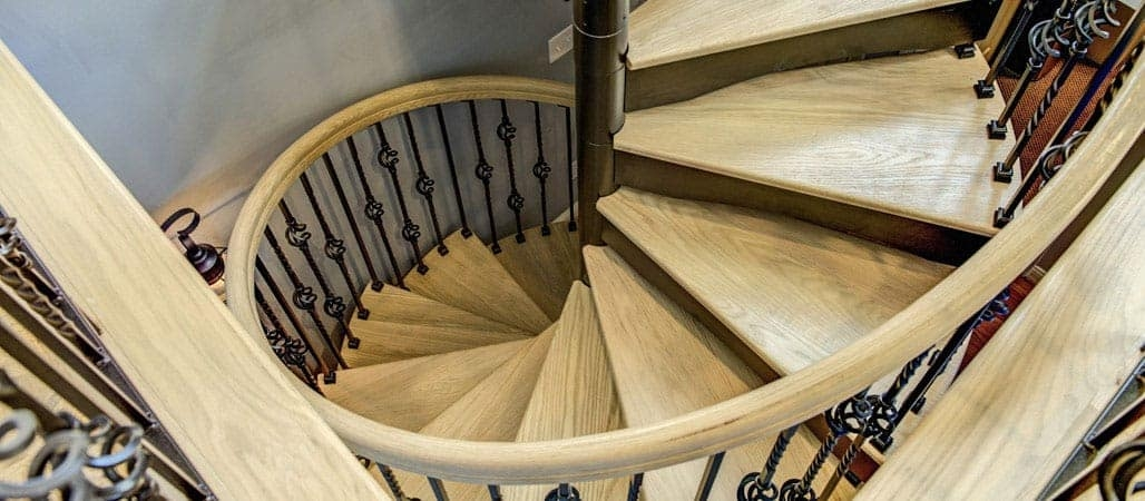 Spiral Staircases Prefab Custom Designs Paragon Stairs | Iron Spiral Staircase For Sale | Grey Exterior | Wrought Iron | Ornate | Helical Staircase | Architectural Salvage
