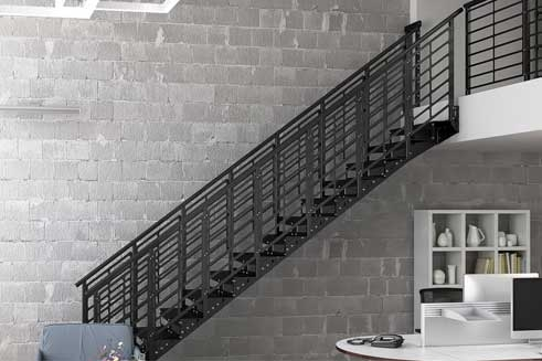 Metal Staircases Prefab Indoor Outdoor Paragon Stairs | Pre Made Stair Railings | Aluminum Railing | Wrought Iron Railing | Deck Railing | Cable Railing Systems | Metal