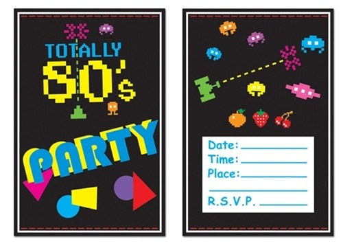 Cheap 80s Invitations