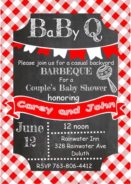 Custom Baby Q Invitations