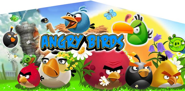 (C) Angry Birds 2 Lane combo (Wet or Dry)