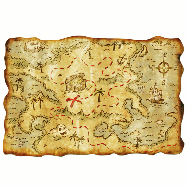 12 Quot X 18 Quot Plastic Pirate Treasure Map Nautical Theme