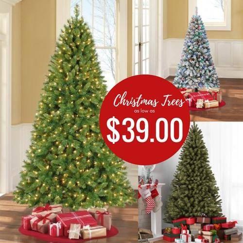 Pre Lit Christmas Trees Sale Kmart