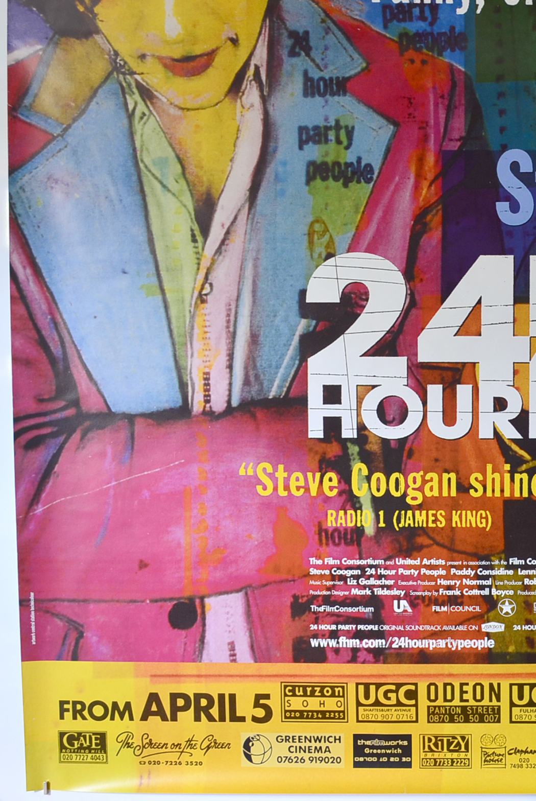 24 Hour Party People British 4 Sheet Poster Original