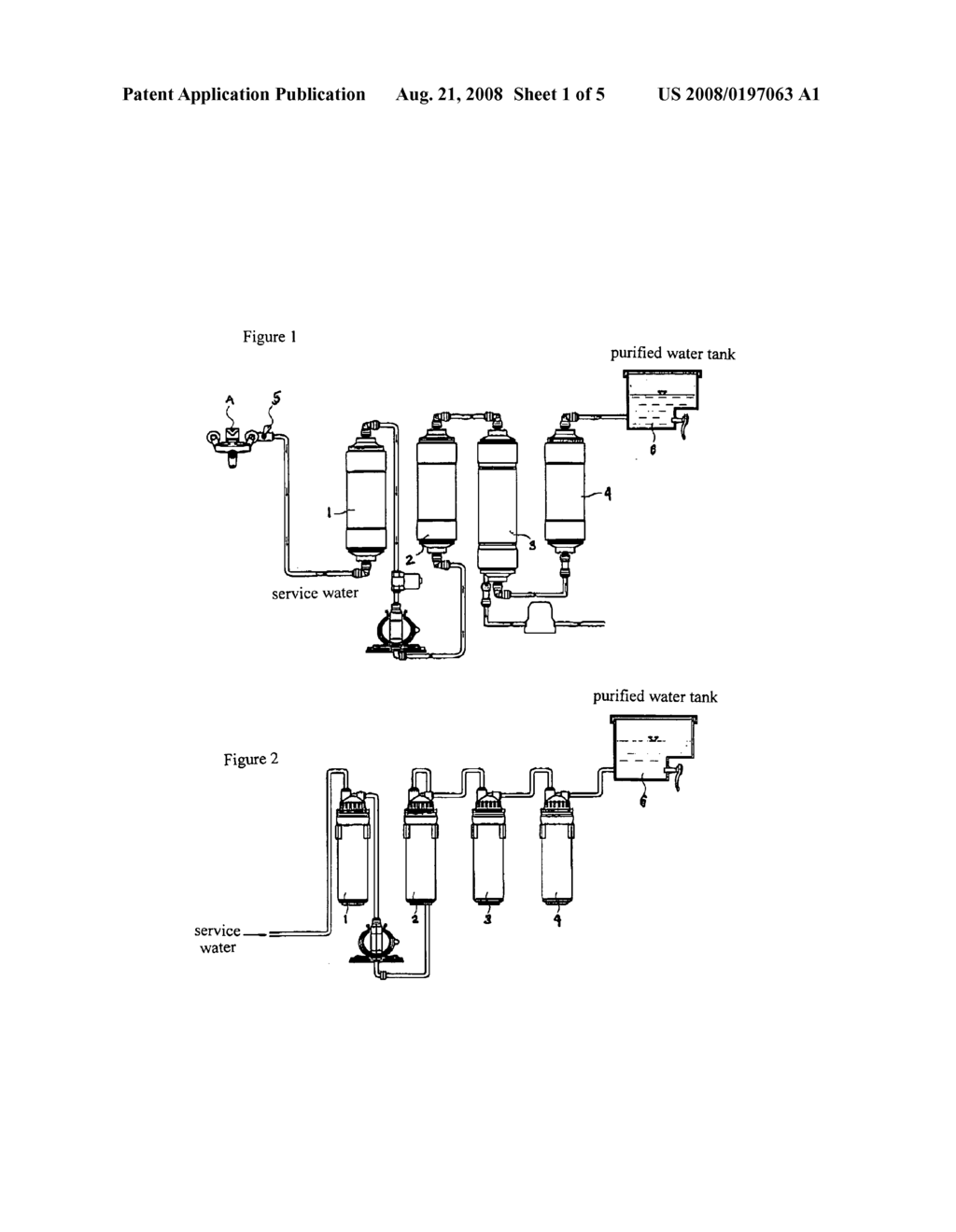 Fluid flow interruption means for filter of water purifier diagram