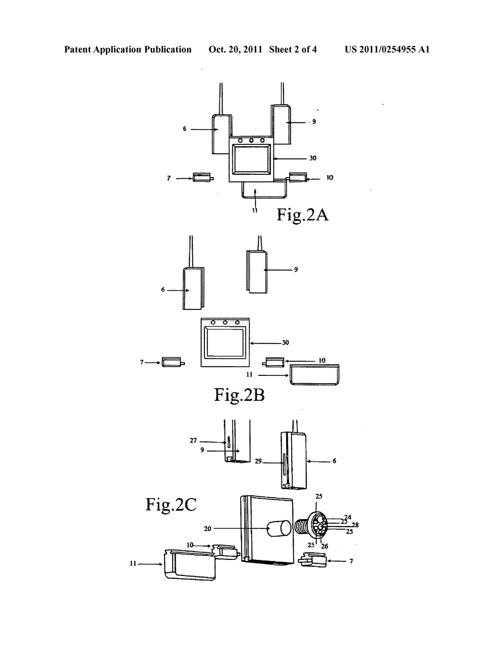 Detachable universal electronic door viewer diagram schematic