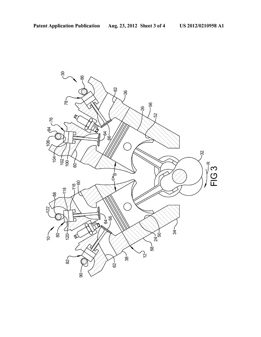 Engine assembly including crankshaft for v8 arrangement diagram