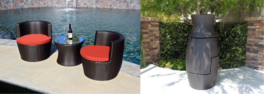 Furnishing a Small Condo Balcony Without Sacrificing Style   Comfort     3 Pc Pineapple Stack Set