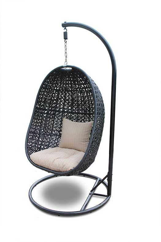 7 of the Coolest Outdoor Wicker Hanging Chairs Nimbus Wicker Hanging Chair
