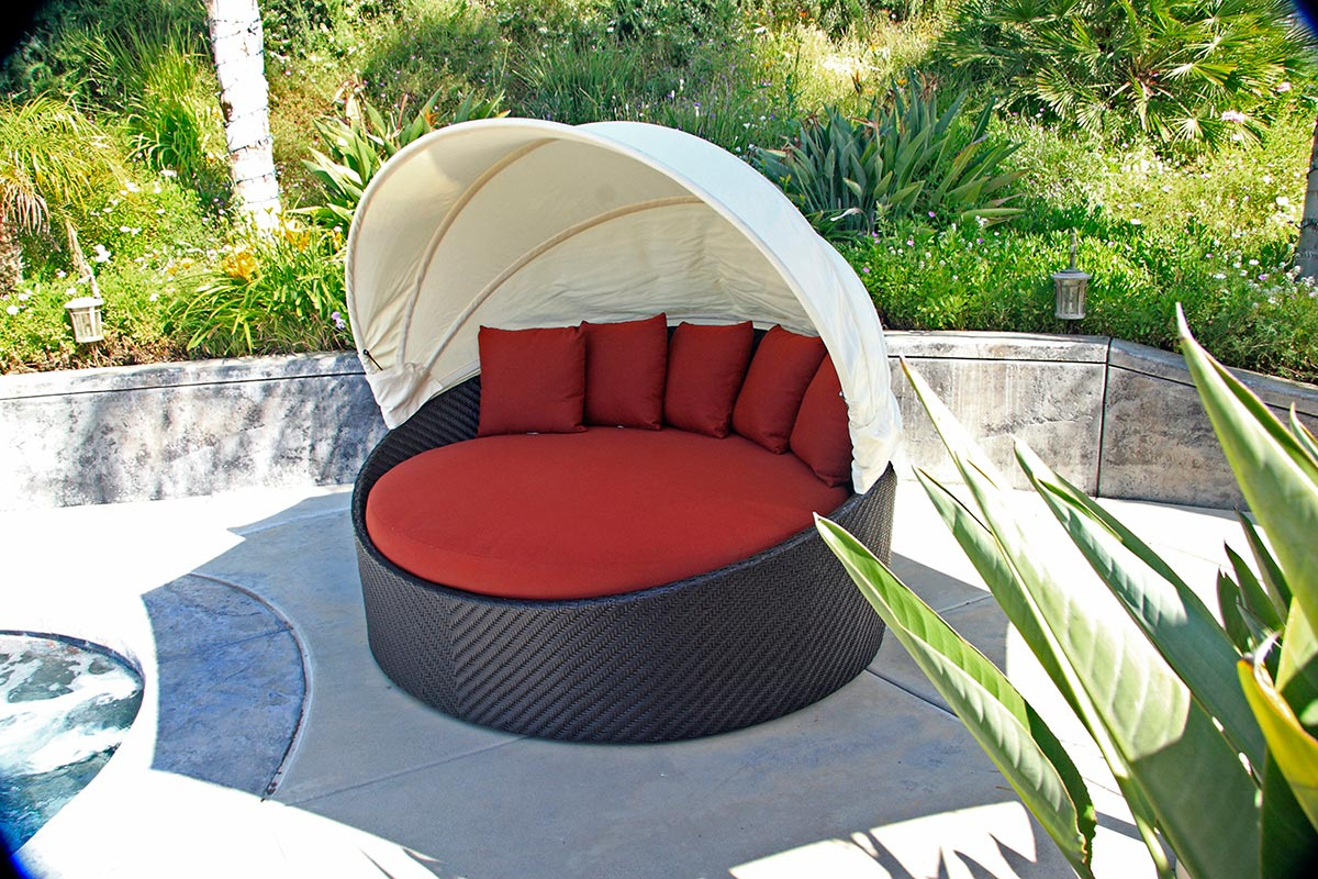 10 Outdoor Daybeds You ll Want to Use Indoors wink canopy daybed outdoor patio furniture design style ideas inspiration  tips advice best lounge relax sleep