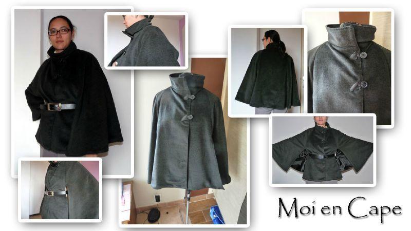 Patron couture gratuit manteau cape femme