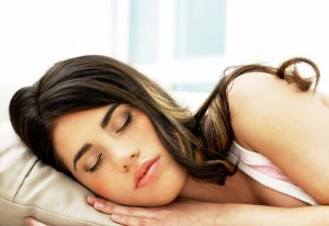 Woman sleeping and dreams to guide her relationship