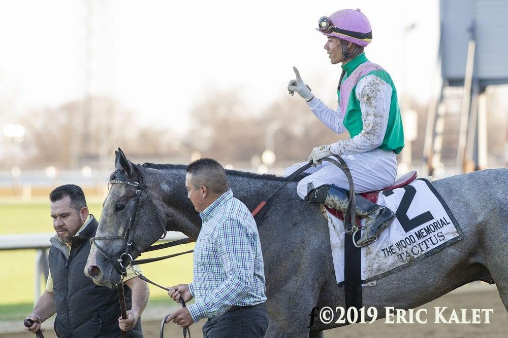 Tacitus Proves His Mettle In Wood Memorial Horse Racing