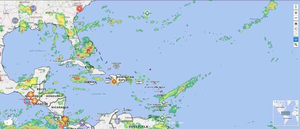 Are There Today Or Atlantic Hurricanes Gu Active Storms Tropical Or Any Caribbean