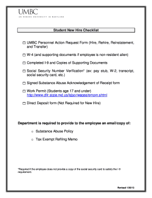 Umbc New Hire Packet - Fill Online, Printable, Fillable ...