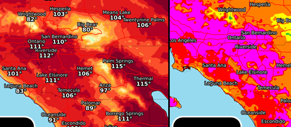HD Decor Images » Southern California to be under the broiler this week  heat wave     This week s heat wave is expected to peak Tuesday  Aug  29  when highs  could surpass 110 degrees in parts of the Inland Empire while staying in  the 80s