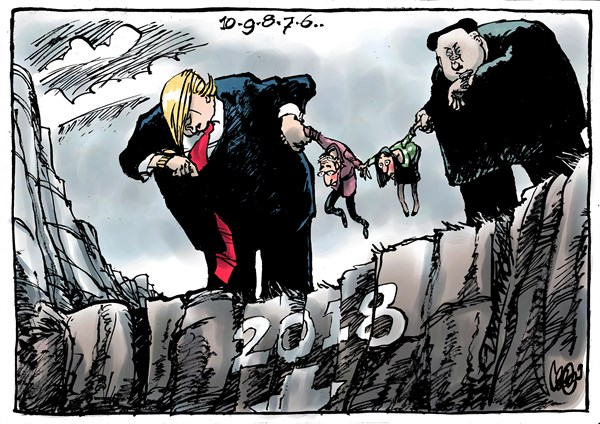 Coming up on the new year  Political Cartoons     Press Enterprise Sound